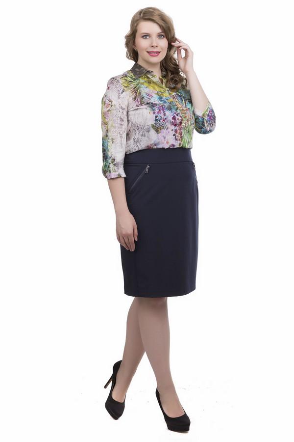 Юбка Betty BarclayЮбки<br>Юбка Betty Barclay темно-синяя. Прямой фасон – это всегда модно, уместно и крайне актуально. Если вы хотите в офисе выглядеть по-деловому, то такая юбка в вашем гардеробе будет действительно незаменима. Изделие украшают боковые вставки из той же ткани и диагональные карманы на молнии спереди. То, что нужно для самых разных ситуаций.<br><br>Размер RU: 52<br>Пол: Женский<br>Возраст: Взрослый<br>Материал: эластан 9%, полиэстер 91%<br>Цвет: Синий