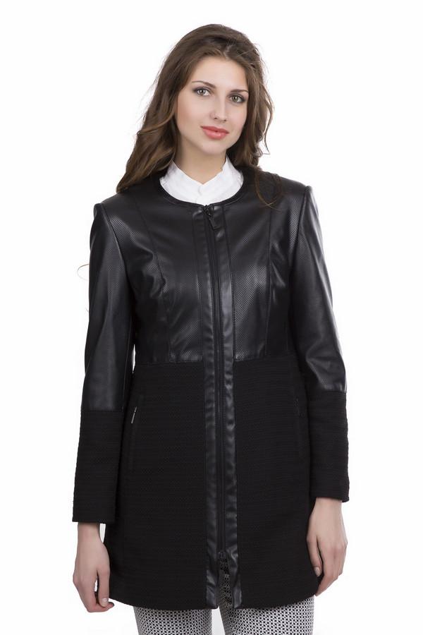 Пальто Betty BarclayПальто<br>Пальто Betty Barclay женское чёрное. Укороченное комбинированное пальто чёрного цвета смотрится очень элегантно и женственно. Модель прямого силуэта с круглым вырезом, прямым узким рукавом, с рельефными вытачками на полочке и спинке и застёжкой молнией подойдёт любой женщине. А в сочетании с узкими длинными брюками или капри, обувью на высоком каблуке в таком пальто вы произведёте фурор. Состав: 100% полиамид.<br><br>Размер RU: 44<br>Пол: Женский<br>Возраст: Взрослый<br>Материал: полиамид 100%<br>Цвет: Чёрный