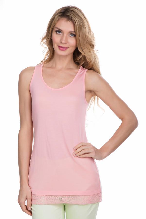 Топ Betty BarclayТопы<br>Топ Betty Barclay женский розовый. Эластичный мягкий топ, идеально облегающий фигуру. Эффектная модель нежно-розового цвета с отделкой ажурной тканью выглядит просто превосходно. Глубокий круглый вырез смотрится очень сексуально. Такой топ привлечёт к вам внимание, где бы вы не находились: на работе, на отдыхе или на вечеринке. Состав: 100% модал.