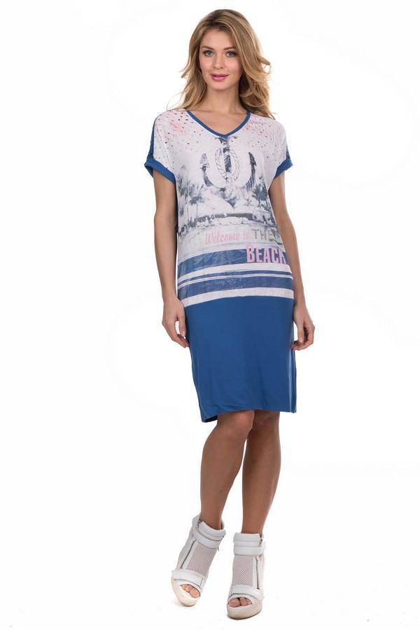 Платье TuzziПлатья<br><br><br>Размер RU: 44<br>Пол: Женский<br>Возраст: Взрослый<br>Материал: вискоза 50%, хлопок 50%<br>Цвет: Разноцветный