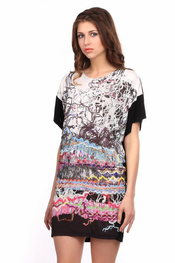 Платье TuzziПлатья<br><br><br>Размер RU: 44<br>Пол: Женский<br>Возраст: Взрослый<br>Материал: эластан 8%, вискоза 92%<br>Цвет: Разноцветный