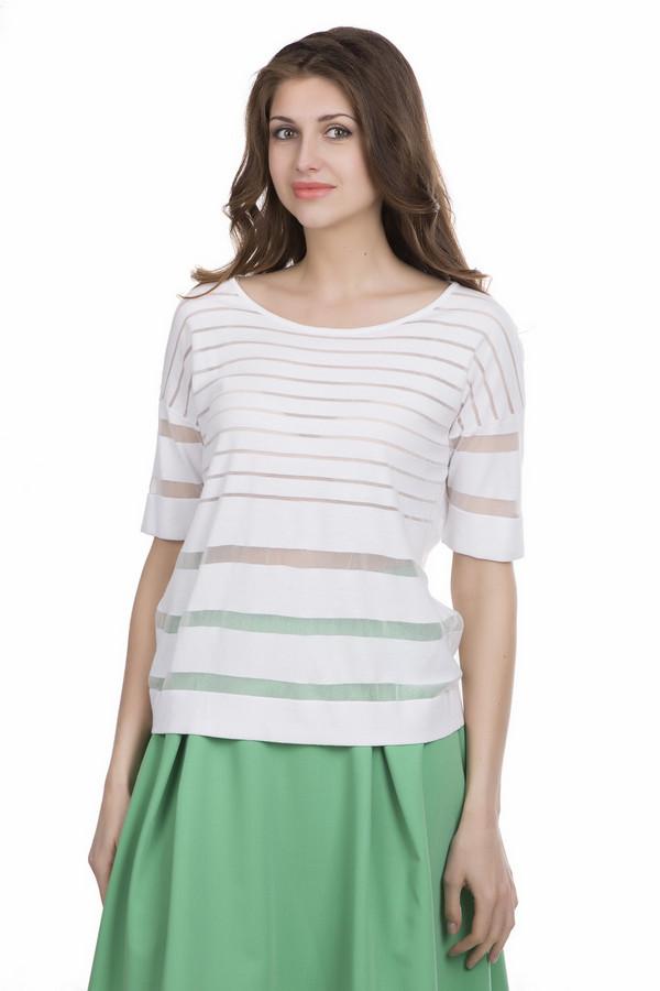 Пуловер TuzziПуловеры<br><br><br>Размер RU: 44<br>Пол: Женский<br>Возраст: Взрослый<br>Материал: полиамид 26%, вискоза 71%, полиэстер 3%<br>Цвет: Белый