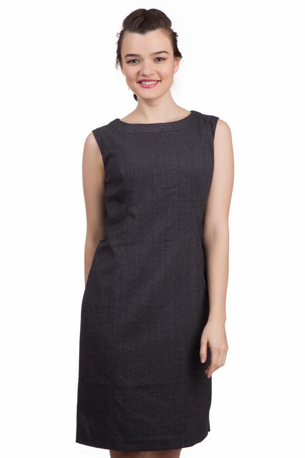 Платье PezzoПлатья<br>Элегантное темно-серое платье Pezzo приталенного кроя. Изделие дополнено: круглым вырезом. На спинке расположена скрытая молния.<br><br>Размер RU: 44<br>Пол: Женский<br>Возраст: Взрослый<br>Материал: вискоза 33%, полиэстер 65%, спандекс 2%<br>Цвет: Чёрный
