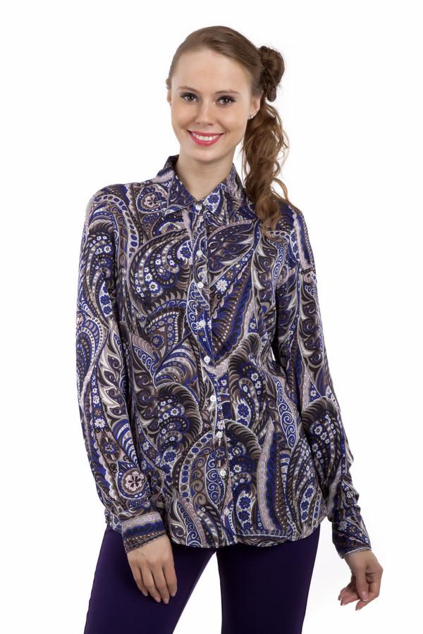 Рубашка с длинным рукавом PezzoДлинный рукав<br>Потрясающая женская рубашка Pezzo приталенного кроя c принтом пейсли. Интересное сочетание цветов. Рубашка дополнена отложным воротником и манжетами с пуговицами. Центральная часть изделия застегивается на пуговицы. Прекрасно будет смотреться с  черными классическими брюками  и  темно-синей юбкой .<br><br>Размер RU: 42<br>Пол: Женский<br>Возраст: Взрослый<br>Материал: район 100%<br>Цвет: Разноцветный