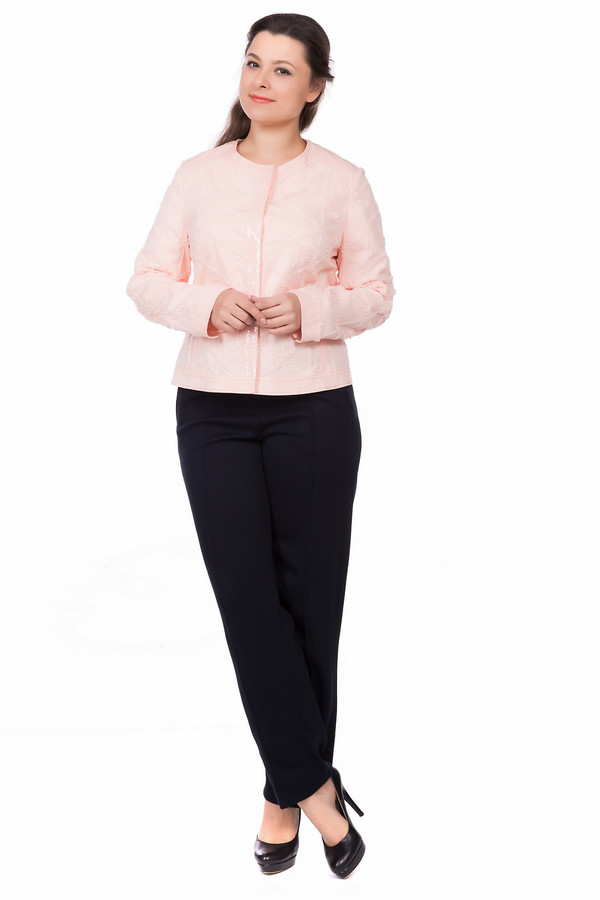 Жакет Gerry WeberЖакеты<br><br><br>Размер RU: 50<br>Пол: Женский<br>Возраст: Взрослый<br>Материал: хлопок 98%, эластан 2%<br>Цвет: Розовый
