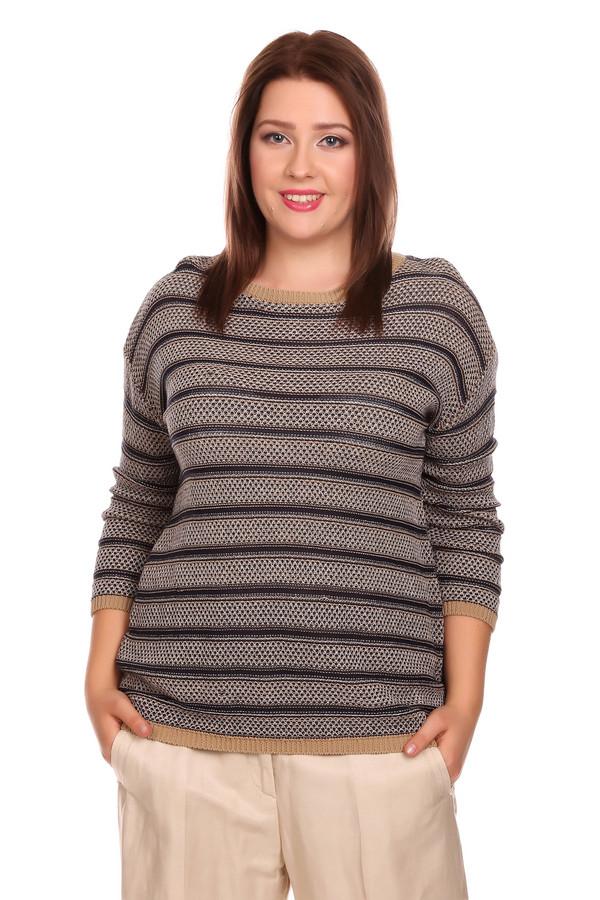 Пуловер Betty BarclayПуловеры<br>Пуловер Betty Barclay женский бежево-синий. Стильный пуловер с сочетанием горизонтальных бежевых и синих полос привлечёт ваше внимание. Спущенный рукав длиной 3/4, вырез горловины «лодочка», оригинальная вязка придают этой модели неординарность В таком пуловере любая женщина будет выглядеть очень стильно. Состав: хлопок, вискоза, полиамид, лён.<br><br>Размер RU: 46<br>Пол: Женский<br>Возраст: Взрослый<br>Материал: полиамид 17%, вискоза 35%, хлопок 42%, лен 6%<br>Цвет: Синий