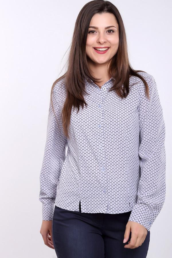 Рубашка с длинным рукавом ErfoДлинный рукав<br>Женственная рубашка от бренда Erfo прямого кроя выполнена из легкого материала сиреневого цвета. Изделие дополнено: отложным воротником, планкой с пуговицами и длинными рукавами. Манжеты с застежкой на пуговицу. Рубашка оформлена геометрическим принтом контрастного цвета.<br><br>Размер RU: 46<br>Пол: Женский<br>Возраст: Взрослый<br>Материал: полиэстер 97%, эластан 3%<br>Цвет: Синий