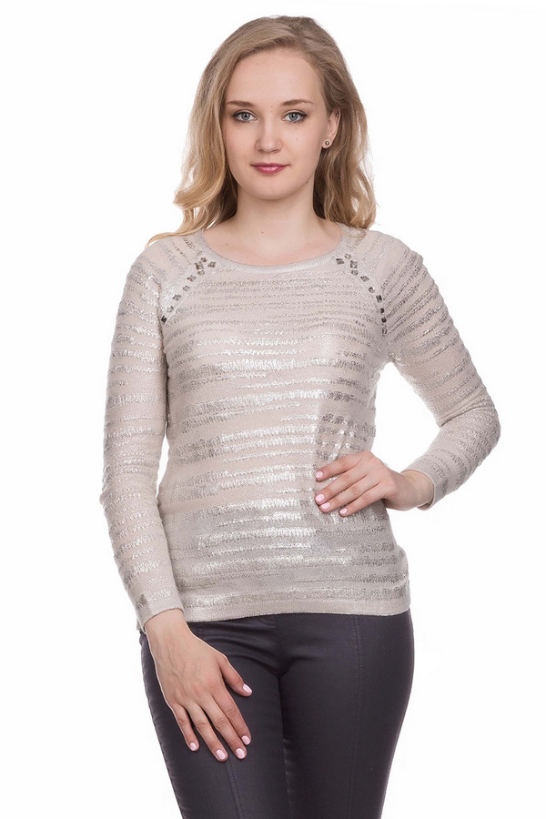 Пуловер Gerry WeberПуловеры<br><br><br>Размер RU: 42<br>Пол: Женский<br>Возраст: Взрослый<br>Материал: хлопок 43%, полиакрил 57%<br>Цвет: Серебристый