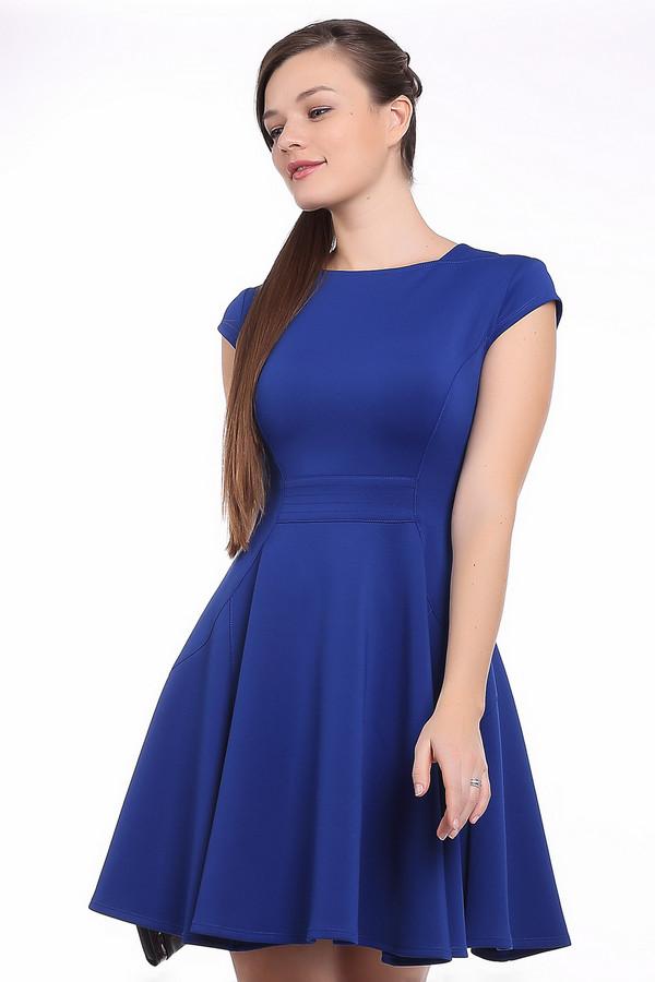 Вечернее платье Joseph RibkoffВечерние платья<br>Очень стильное классическое платье с ювелирным декольте фасона приближенного к стилю пятидесятых годов и короткими рукавами. Оно идеально обтягивает верхнюю часть фигуры, а элегантные оборки юбки добавят полноты женским бедрам, если ее не хватает и подчеркнет то, что уже есть. Сзади на спине есть металлическая застежка, которая не только выполняет свои привычные функции, но и является элементом декора.<br><br>Размер RU: 40<br>Пол: Женский<br>Возраст: Взрослый<br>Материал: полиамид 95%, спандекс 5%<br>Цвет: Синий