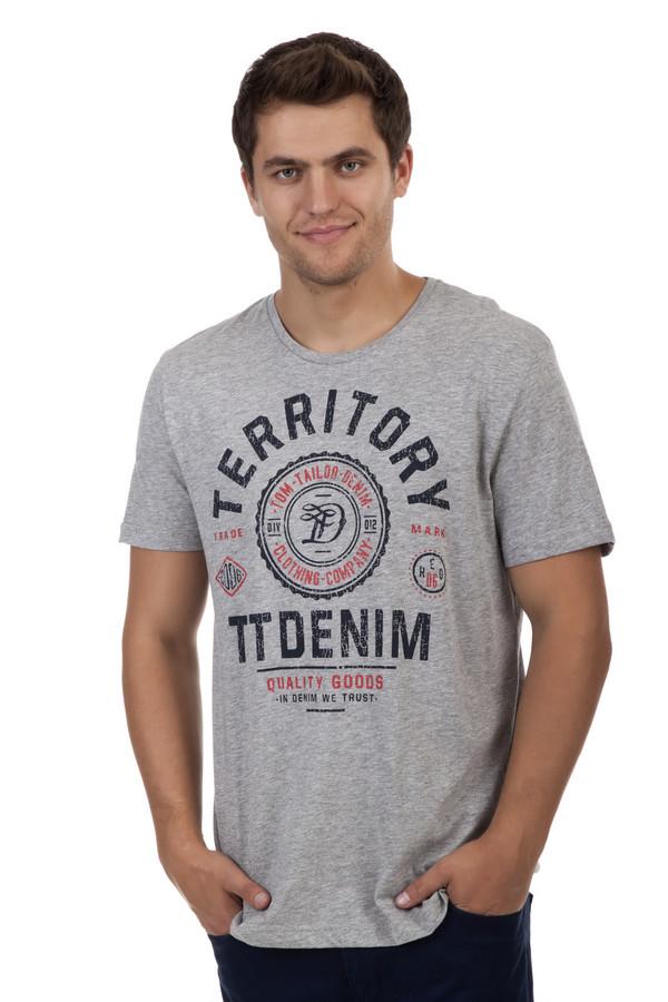 Футболкa Tom TailorФутболки<br>Серая футболка бренда Tom Tailor прямого кроя выполнена из хлопкового материала. Изделие дополнено: круглым вырезом и короткими рукавами. Футболка декорирована принтом с надписями, названием бренда и логотипом.<br><br>Размер RU: 44-46<br>Пол: Мужской<br>Возраст: Взрослый<br>Материал: хлопок 100%<br>Цвет: Серый