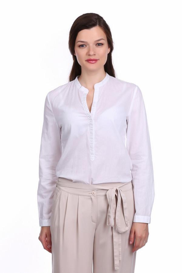 Блузa Betty BarclayБлузы<br>Блузa Betty Barclay женская белая. Белая блуза из натуральной ткани для милых романтичных женщин. Модель прямого силуэта, с воротником-стойкой, переходящим в застёжку, отделанную стразами. По всей ширине спинки проходит кокетка с небольшими защипами в центре. Блузу можно заправлять в брюки или юбку, а также носить навыпуск. В любом варианте она смотрится красиво и стильно. Состав: 100% хлопок.<br><br>Размер RU: 48<br>Пол: Женский<br>Возраст: Взрослый<br>Материал: хлопок 100%<br>Цвет: Белый