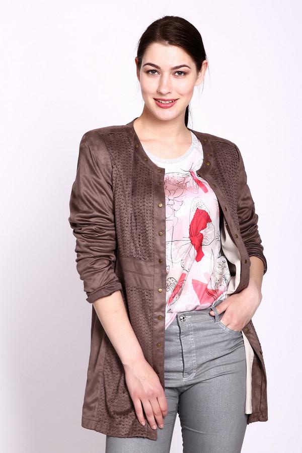женское пальто gelco, коричневое