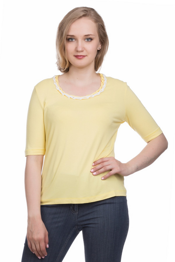 женская футболка gelco, желтая