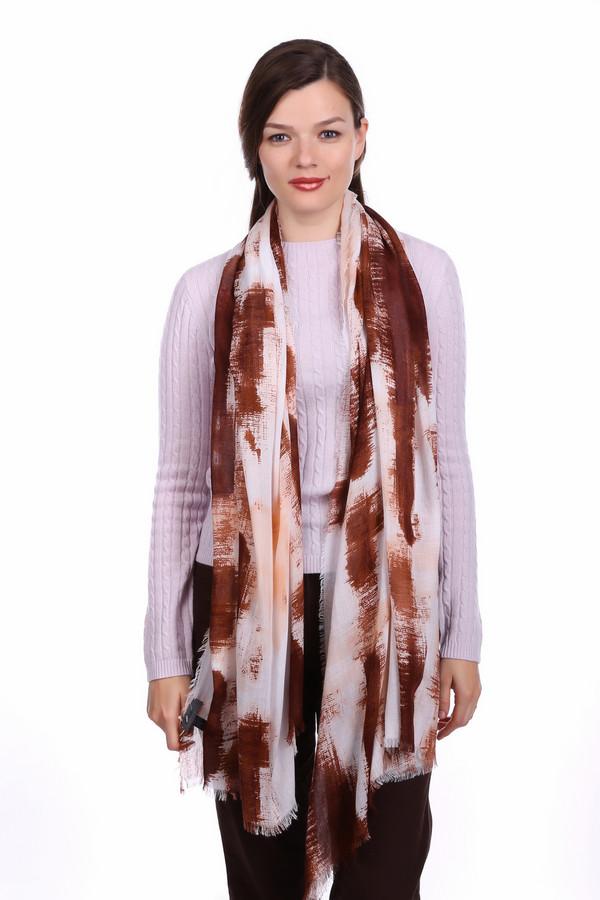 женский шарф s.oliver, коричневый