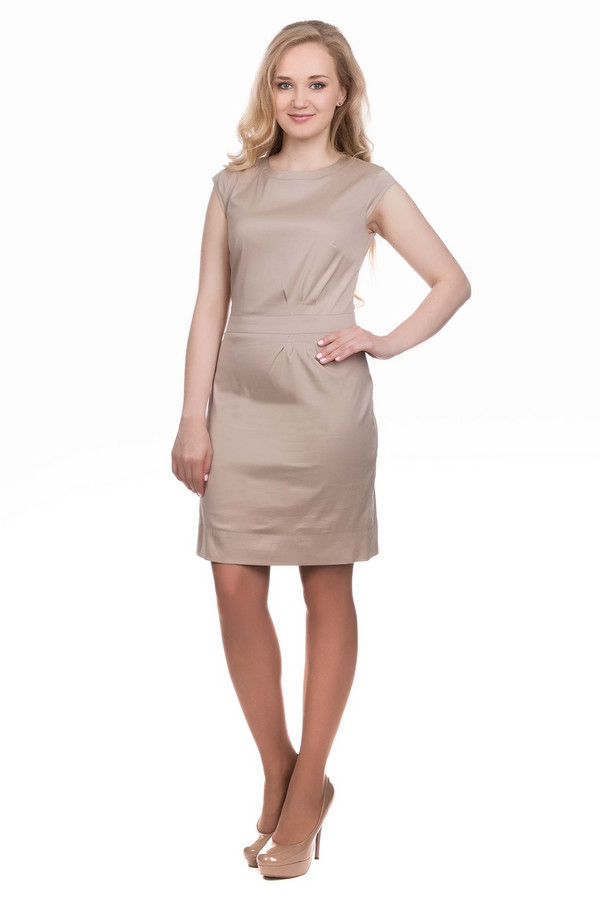 Платье s.Oliver PREMIUMПлатья<br><br><br>Размер RU: 52<br>Пол: Женский<br>Возраст: Взрослый<br>Материал: эластан 3%, хлопок 78%, полиамид 19%<br>Цвет: Бежевый