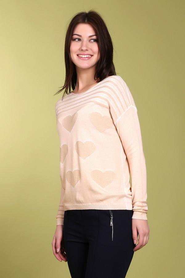 Пуловер ApanageПуловеры<br>Пуловер Apanage бежевый женский. Чудесная вещь с крупными сердечками и с полосками спереди и на манжетах – отличный выбор для тех, кто хочет выглядеть безупречно. Готовьтесь выслушивать массу комплиментов, если вы приобрели такое уютное и гармоничное изделие. Носите его с брюками и юбками самого разного кроя. Состав: вискоза, полиамид, полиэстер.<br><br>Размер RU: 50<br>Пол: Женский<br>Возраст: Взрослый<br>Материал: полиамид 2%, полиэстер 3%, вискоза 95%<br>Цвет: Бежевый