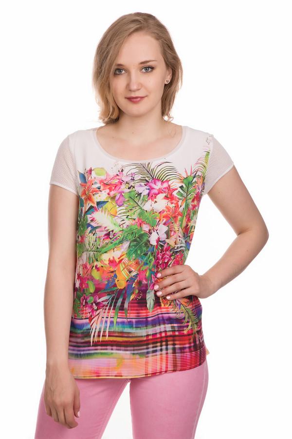 Блузa ApanageБлузы<br>Блузa Apanage женская разноцветная. Яркая разноцветная блуза подарит вам летнее настроение. Насыщенные оттенки белого, розового, оранжевого, зелёного и синего цветов с экзотическим рисунком создают иллюзию праздника. Такая модель отлично подойдёт для летнего отдыха, и вы будете чувствовать себя в ней очень удобно и комфортно. Состав: 100% вискоза.<br><br>Размер RU: 42<br>Пол: Женский<br>Возраст: Взрослый<br>Материал: вискоза 100%<br>Цвет: Разноцветный