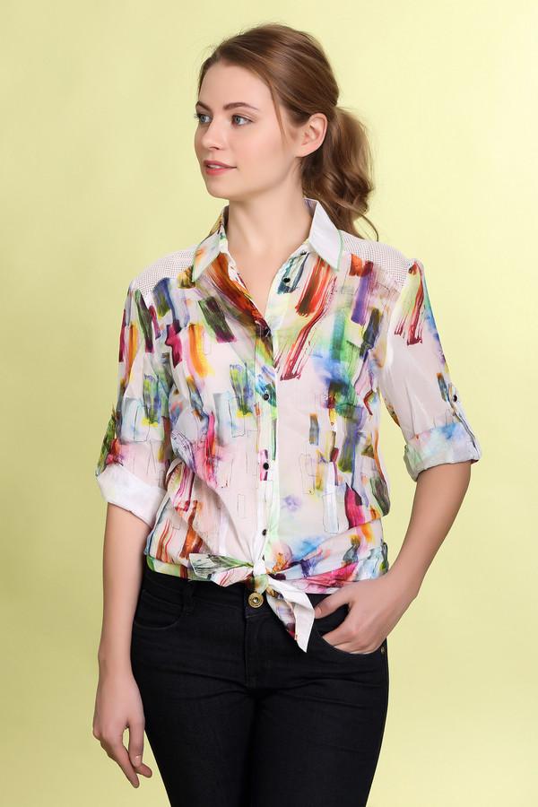 Блузa ApanageБлузы<br>Блузa Apanage женская разноцветная. Лёгкая изящная блуза с абстрактным рисунком всех цветов радуги на белом фоне смотрится очень красиво. Модель рубашечного типа с коротким рукавом и кокеткой в виде сеточки довольно практична и удобна. Такую блузу можно комбинировать с различной одеждой: брюками, юбками, шортами, и она будет выглядеть эффектно. Состав: 100% хлопок.<br><br>Размер RU: 42<br>Пол: Женский<br>Возраст: Взрослый<br>Материал: хлопок 100%<br>Цвет: Разноцветный