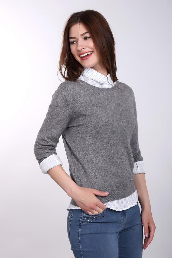Пуловер Just ValeriПуловеры<br>Пуловер Just Valeri серый. Стильно и лаконично – эти черты дают возможность нашему пуловеру уверенно занимать свое почетное место в рейтинге любимых вещей в гардеробе многих модниц. Краткость, как известно, сестра таланта. Так и в этой модели все предельно четко и минималистично. Стразы по центру лифа модели сзади придают ей своего очарования.<br><br>Размер RU: 50<br>Пол: Женский<br>Возраст: Взрослый<br>Материал: шелк 55%, кашемир 45%<br>Цвет: Серый