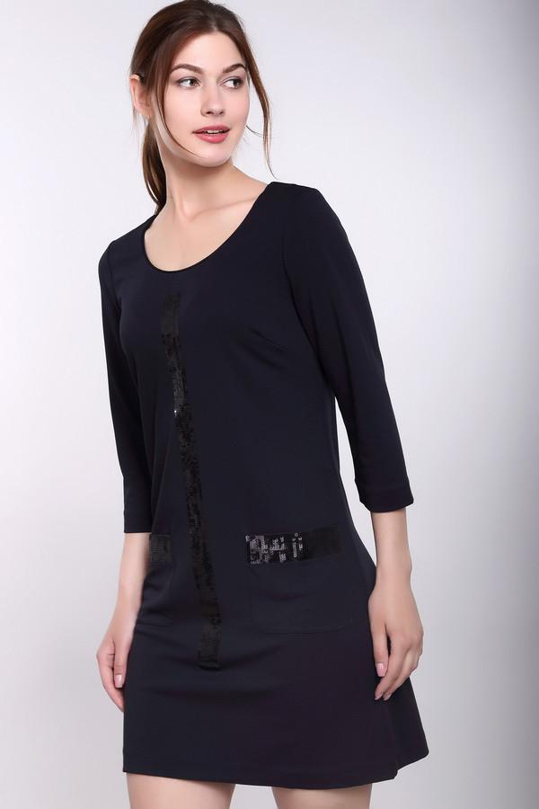 Платье PezzoПлатья<br>Платье Pezzo классического черного цвета – это очень выигрышная демисезонная модель. Декор блестящими пайетками превращает данное изделие в мечту всех модниц! Отделка карманов и передней части наряда блестящими полосками делает изделие поистине оригинальным и даже праздничным. Состав ткани: вискоза, нейлон, спандекс. Носить такую одежду лучше всего с туфлями на каблуках.<br><br>Размер RU: 44<br>Пол: Женский<br>Возраст: Взрослый<br>Материал: вискоза 68%, нейлон 26%, спандекс 6%, Состав_подкладка полиэстер 100%<br>Цвет: Синий