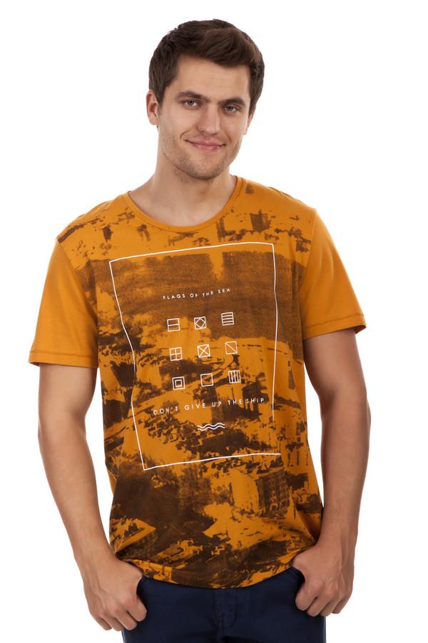 Футболкa Tom TailorФутболки<br>Модная оранжевая футболка от бренда Tom Tailor прямого кроя. Изделие дополнено: круглым вырезом и короткими рукавами. Футболка оформлена рисунком с изображением города и геометрическим контрастным принтом с надписями.<br><br>Размер RU: 48-50<br>Пол: Мужской<br>Возраст: Взрослый<br>Материал: хлопок 100%<br>Цвет: Оранжевый