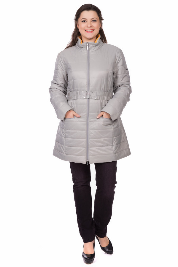 Пальто PezzoПальто<br><br><br>Размер RU: 44<br>Пол: Женский<br>Возраст: Взрослый<br>Материал: полиэстер 100%<br>Цвет: Серый