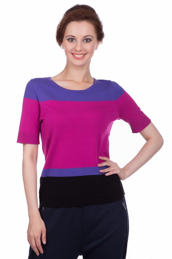 Пуловер PezzoПуловеры<br>Пуловер Pezzo разноцветный. Розовый, черный и фиолетовый цвета в этом ансамбле творят волшебную гармонию. Простой силуэт, который украшают полосы ткани разных цветов, обеспечивает безупречную посадку по фигуре. Состав: вискоза и полиамид. Демисезонная вещь для самых разных случаев.<br><br>Размер RU: 50<br>Пол: Женский<br>Возраст: Взрослый<br>Материал: полиамид 20%, вискоза 80%<br>Цвет: Разноцветный