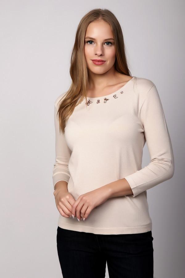 Пуловер PezzoПуловеры<br>Белый пуловер от бренда Pezzo. Светлый оттенок этого изделия, несомненно, придется по душе женственным натурам. Изысканный и красивый декор вокруг выреза горловины этого изделия делает его поистине оригинальным и желанным. Позвольте себе блистать и сводить с ума! Состав: вискоза и полиамид.<br><br>Размер RU: 44<br>Пол: Женский<br>Возраст: Взрослый<br>Материал: полиамид 20%, вискоза 80%<br>Цвет: Бежевый