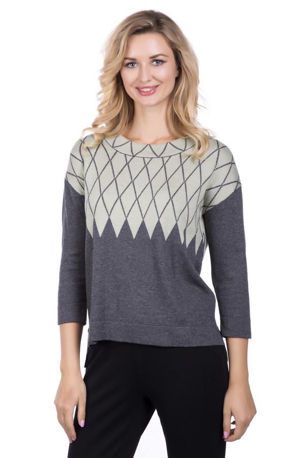 Пуловер PezzoПуловеры<br>Пуловер от бренда Pezzo серого цвета. Сочетание разных оттенков делает предлагаемую модель изысканной и очень элегантной. Рисунок из ромбов стройнит обладательницу пуловера, в то же самое время обеспечивая необычный вид изделия. Рукав три четверти красиво открывает руки. Состав: вискоза, хлопок, нейлон, шерсть, кашемир, акрил. Демисезонная модель для женщин любого возраста – в таком пуловере вы всегда будете выглядеть моложе своих лет.<br><br>Размер RU: 50<br>Пол: Женский<br>Возраст: Взрослый<br>Материал: вискоза 35%, хлопок 16%, шерсть 5%, нейлон 30%, акрил 10%, кашемир 4%<br>Цвет: Зелёный