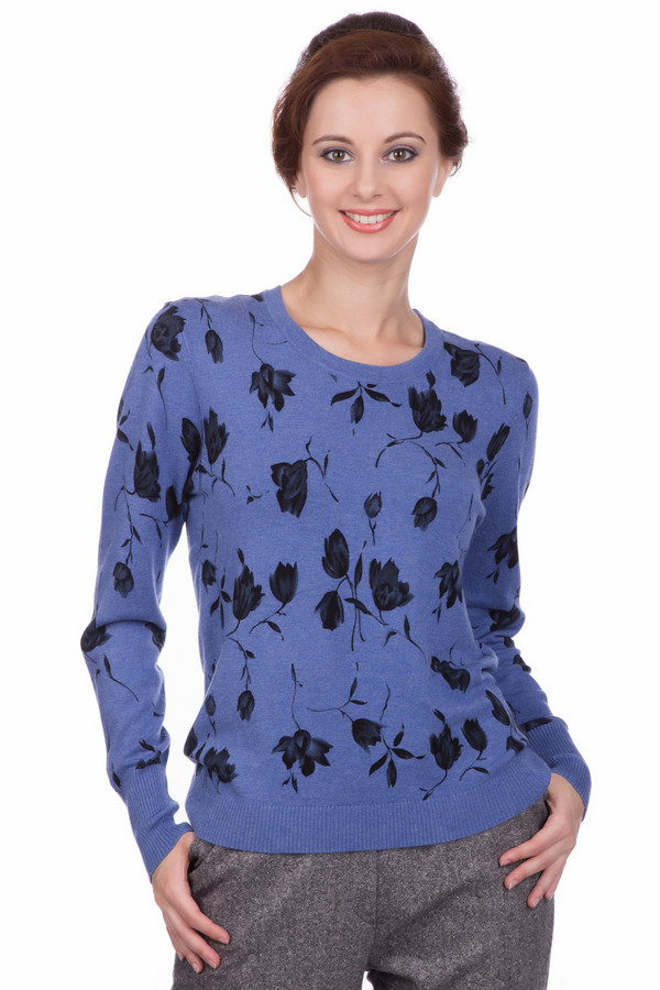 Пуловер PezzoПуловеры<br>Пуловер от бренда Pezzo синего оттенка. Изящный цветочный рисунок по всему полю изделия делает вас еще более женственной и совершенно неповторимой. Лишь спинка – однотонная. Такая модель великолепно подойдет как для прогулки по городу, так и для обычного рабочего дня. Состав: вискоза и полиамид, что превращает наш пуловер в воплощение комфорта и элегантности.<br><br>Размер RU: 48<br>Пол: Женский<br>Возраст: Взрослый<br>Материал: полиамид 20%, вискоза 80%<br>Цвет: Чёрный