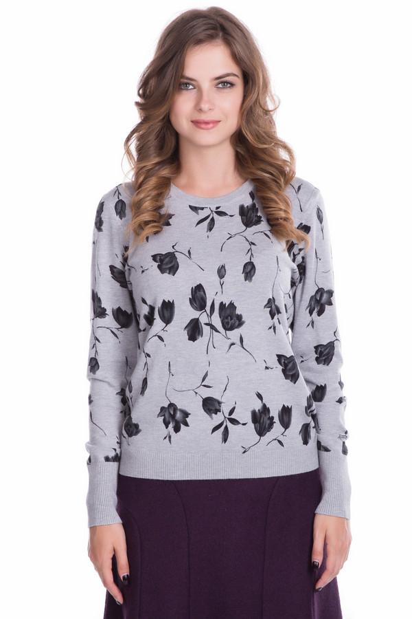 Пуловер PezzoПуловеры<br>Пуловер от бренда Pezzo светло-серого оттенка. Изящный цветочный рисунок по всему полю изделия делает вас еще более женственной и совершенно неповторимой. Лишь спинка – однотонная. Такая модель великолепно подойдет как для прогулки по городу, так и для обычного рабочего дня. Состав: вискоза и полиамид, что превращает наш пуловер в воплощение комфорта и элегантности.<br><br>Размер RU: 50<br>Пол: Женский<br>Возраст: Взрослый<br>Материал: полиамид 20%, вискоза 80%<br>Цвет: Чёрный