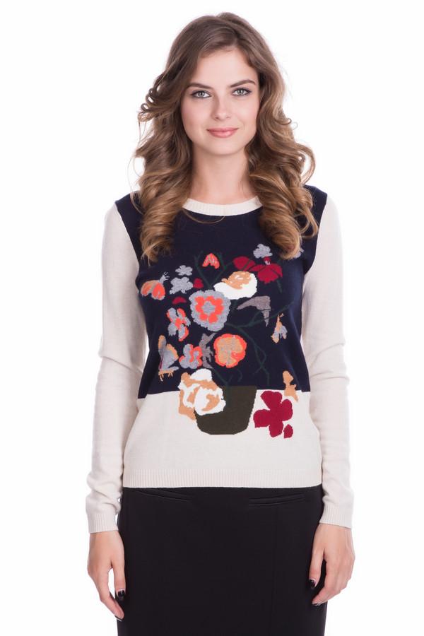 Пуловер Just ValeriПуловеры<br>Пуловер Just Valeri разноцветный. Бежевый фон плюс темно-синий, бордовый, оранжевый, бежевый цвета – выигрышное и нетривиальное сочетание, а яркий, такой сочный и привлекательный принт спереди лифа – это именно то, что вам нужно. Состав: вискоза, хлопок, нейлон, шерсть, кашемир. Зимнее изделие с однотонной спинкой и ярким вырезом горловины – то, что понравится современным и модным дамам.<br><br>Размер RU: 52<br>Пол: Женский<br>Возраст: Взрослый<br>Материал: вискоза 33%, шерсть 20%, хлопок 20%, кашемир 4%, нейлон 23%<br>Цвет: Разноцветный