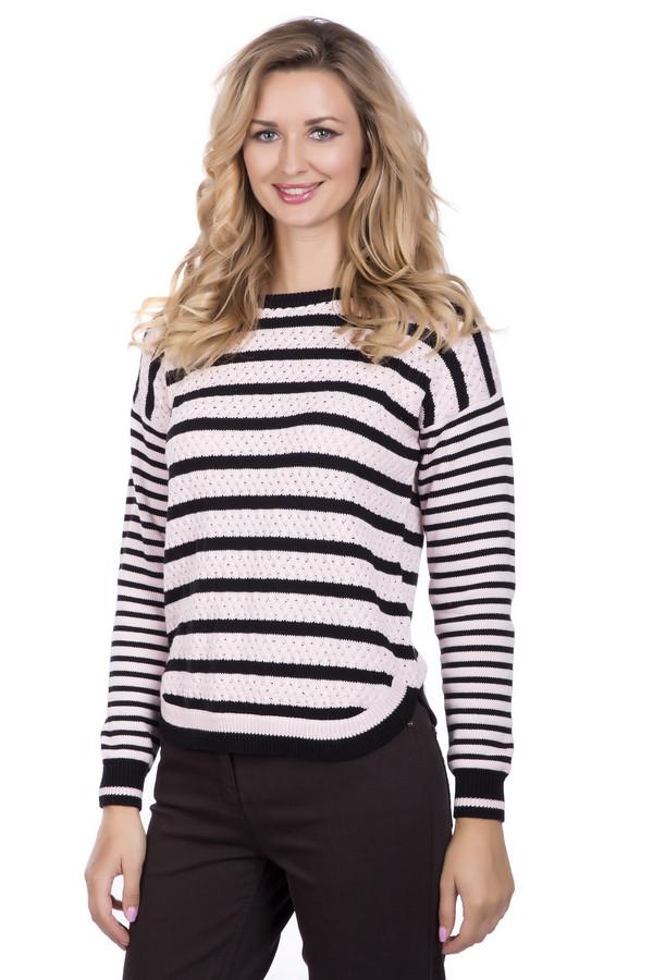 Пуловер PezzoПуловеры<br><br><br>Размер RU: 44<br>Пол: Женский<br>Возраст: Взрослый<br>Материал: хлопок 100%<br>Цвет: Чёрный