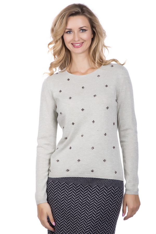 Пуловер PezzoПуловеры<br>Пуловер Pezzo с длинным рукавом. Отличная модель и для работы, и для отдыха. Презентабельный вид и комфорт в таком изделии вам обеспечены. Украшенный красивыми бусинками спереди, этот пуловер отлично спишется в ваш гардероб и всегда будет притягивать к себе восхищенные взгляды окружающих. Состав: вискоза, полиэстер, нейлон, шерсть и ангора. Носить его можно весной, осенью, а также зимой.<br><br>Размер RU: 44<br>Пол: Женский<br>Возраст: Взрослый<br>Материал: полиэстер 30%, нейлон 20%, шерсть 5%, вискоза 40%, ангора 5%<br>Цвет: Зелёный