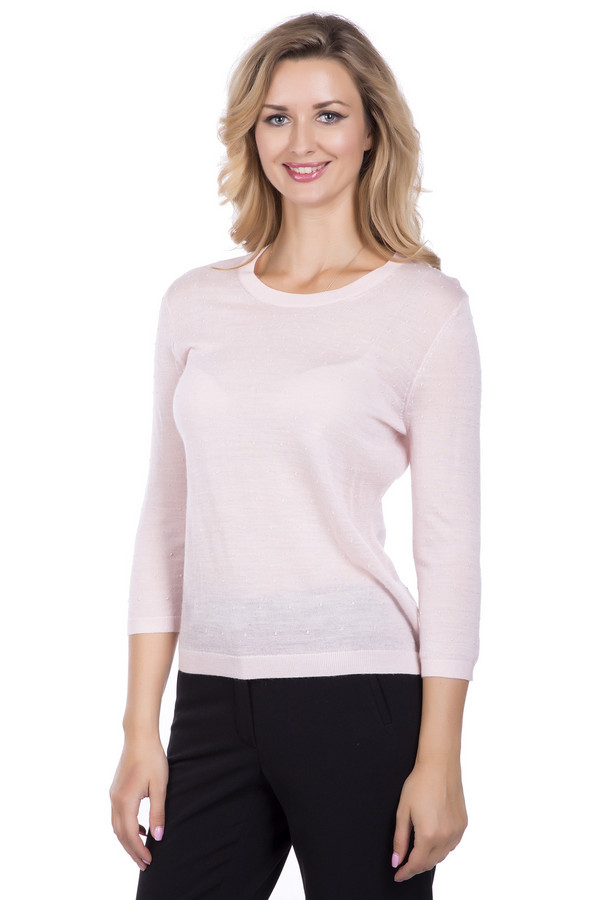Пуловер PezzoПуловеры<br><br><br>Размер RU: 52<br>Пол: Женский<br>Возраст: Взрослый<br>Материал: шерсть 50%, акрил 50%<br>Цвет: Розовый