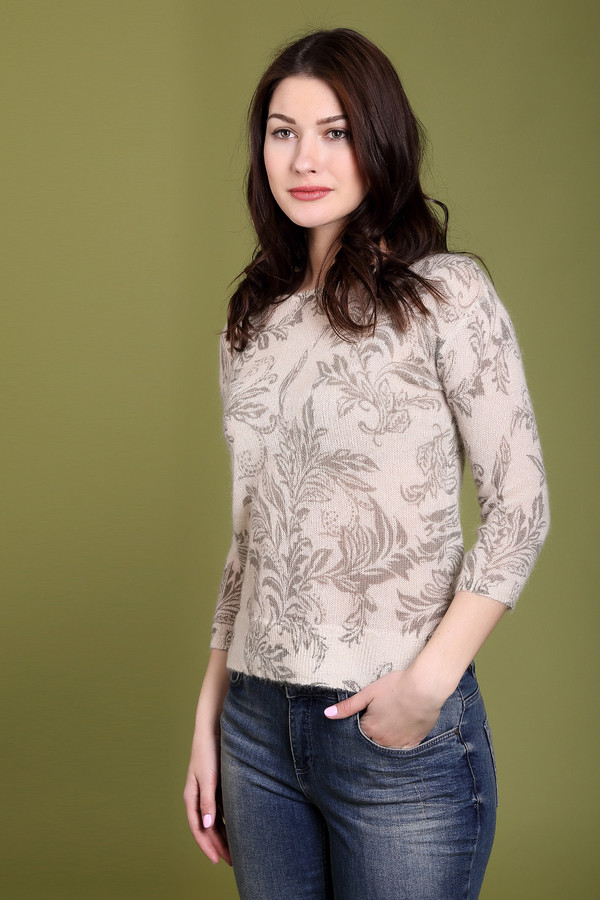 Пуловер Just ValeriПуловеры<br>Пуловер Just Valeri женский бежево-серый. Лёгкий воздушный пуловер с изысканным рисунком смотрится очень элегантно. Заниженная пройма и длина рукава 3/4 подчёркивают стильность этой модели. Такой пуловер выглядит нарядно, поэтому прекрасно подойдёт и для уикенда, и для деловых переговоров, поэтому непредвиденная встреча никогда не застигнет вас врасплох. Состав: мохер, шерсть, нейлон.<br><br>Размер RU: 52<br>Пол: Женский<br>Возраст: Взрослый<br>Материал: шерсть 20%, нейлон 30%, мохер 50%<br>Цвет: Серый