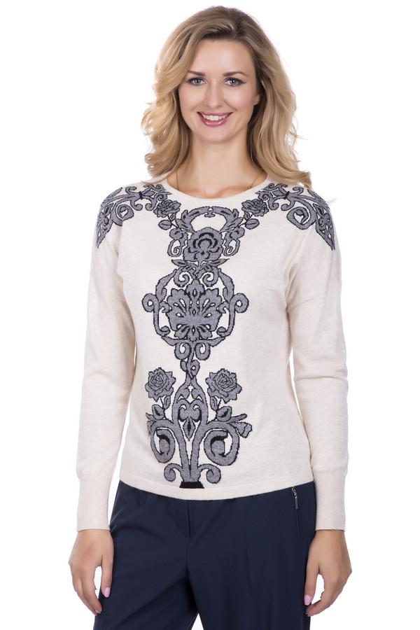 Пуловер PezzoПуловеры<br>Пуловер Pezzo бежевый. Затейливый рисунок в серо-черных тонах делает эту модель очень обаятельной и яркой. Смотрится такая вещь на все 100%. Сочетать данный пуловер вы сможете с самой разной одеждой, создавая все новые очаровательные ансамбли. В таком наряде внимание окружающих вам гарантировано. Состав: вискоза, полиэстер, нейлон, шерсть и ангора.<br><br>Размер RU: 46<br>Пол: Женский<br>Возраст: Взрослый<br>Материал: полиэстер 30%, нейлон 20%, шерсть 5%, вискоза 40%, ангора 5%<br>Цвет: Разноцветный
