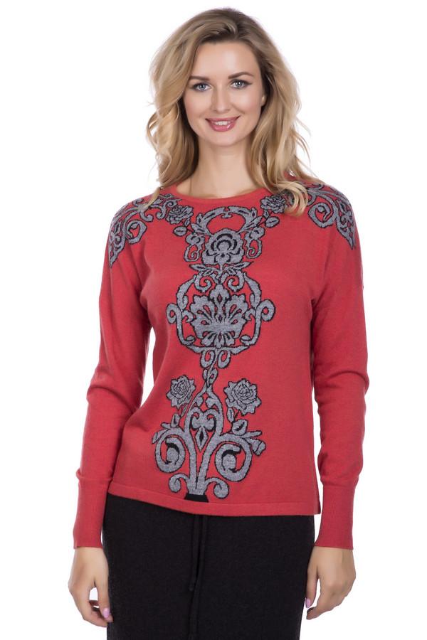 Пуловер PezzoПуловеры<br>Пуловер Pezzo красного оттенка. Затейливый рисунок в  серо-черных  тонах делает эту модель очень обаятельной и яркой. Смотрится такая вещь на все 100%. Сочетать данный пуловер вы сможете с самой разной одеждой, создавая все новые очаровательные ансамбли. В таком наряде внимание окружающих вам гарантировано. Состав: вискоза, полиэстер, нейлон, шерсть и ангора.<br><br>Размер RU: 54<br>Пол: Женский<br>Возраст: Взрослый<br>Материал: полиэстер 30%, нейлон 20%, шерсть 5%, вискоза 40%, ангора 5%<br>Цвет: Разноцветный