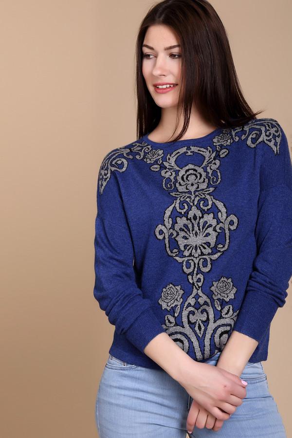 Пуловер PezzoПуловеры<br>Пуловер Pezzo насыщеного синего оттенка. Затейливый рисунок в  серо-черных  тонах делает эту модель очень обаятельной и яркой. Смотрится такая вещь на все 100%. Сочетать данный пуловер вы сможете с самой разной одеждой, создавая все новые очаровательные ансамбли. В таком наряде внимание окружающих вам гарантировано. Состав: вискоза, полиэстер, нейлон, шерсть и ангора.<br><br>Размер RU: 52<br>Пол: Женский<br>Возраст: Взрослый<br>Материал: полиэстер 30%, нейлон 20%, шерсть 5%, вискоза 40%, ангора 5%<br>Цвет: Серый