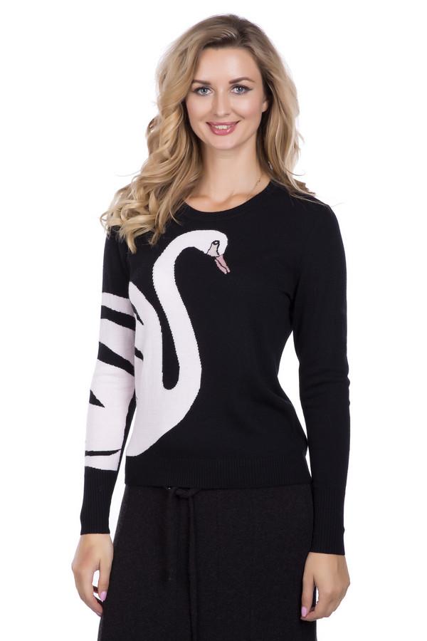 Пуловер PezzoПуловеры<br>Пуловер Pezzo черно-белый. Модель необычная и совершенно восхитительная. Контрастные цвета этой вещи – это ярко, стильно и просто замечательно. Изображение лебедя на рукаве и сбоку модели делает этот пуловер просто мечтой! Вы хотите выглядеть небанально и быть запоминающейся? Тогда пуловер создан для вас. Состав: вискоза, полиэстер, нейлон, шерсть и ангора.<br><br>Размер RU: 52<br>Пол: Женский<br>Возраст: Взрослый<br>Материал: полиэстер 30%, нейлон 20%, шерсть 5%, вискоза 40%, ангора 5%<br>Цвет: Белый