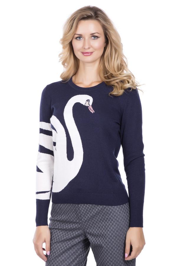 Пуловер PezzoПуловеры<br>Пуловер Pezzo сине -белый . Модель необычная и совершенно восхитительная. Контрастные цвета этой вещи – это ярко, стильно и просто замечательно. Изображение лебедя на рукаве и сбоку модели делает этот пуловер просто мечтой! Вы хотите выглядеть небанально и быть запоминающейся? Тогда пуловер создан для вас. Состав: вискоза, полиэстер, нейлон, шерсть и ангора.<br><br>Размер RU: 48<br>Пол: Женский<br>Возраст: Взрослый<br>Материал: полиэстер 30%, нейлон 20%, шерсть 5%, вискоза 40%, ангора 5%<br>Цвет: Белый