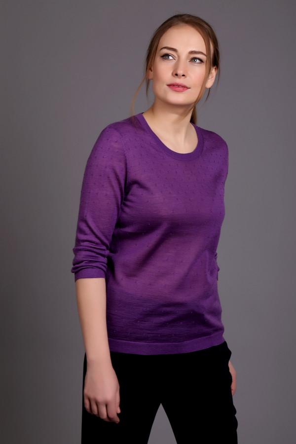 Пуловер PezzoПуловеры<br>Пуловер Pezzo фиолетовый. Простой и нежный, с еле заметным узором, этот пуловер понравится тем, кто ценит неброский шик и любит выглядеть загадочно и соблазнительно. Рукав три четверти и округлый вырез горловины позволят вам выглядеть еще эффектнее. Состав: шерсть и акрил. Демисезонное изделие для тех, кто привык к комфорту.<br><br>Размер RU: 44<br>Пол: Женский<br>Возраст: Взрослый<br>Материал: шерсть 50%, акрил 50%<br>Цвет: Фиолетовый