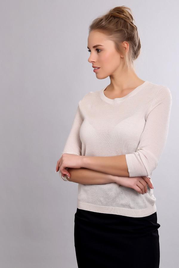 Пуловер PezzoПуловеры<br>Пуловер Pezzo белый. Простой и нежный, с еле заметным узором, этот пуловер понравится тем, кто ценит неброский шик и любит выглядеть загадочно и соблазнительно. Рукав три четверти и округлый вырез горловины позволят вам выглядеть еще эффектнее. Состав: шерсть и акрил. Демисезонное изделие для тех, кто привык к комфорту.<br><br>Размер RU: 48<br>Пол: Женский<br>Возраст: Взрослый<br>Материал: шерсть 50%, акрил 50%<br>Цвет: Белый