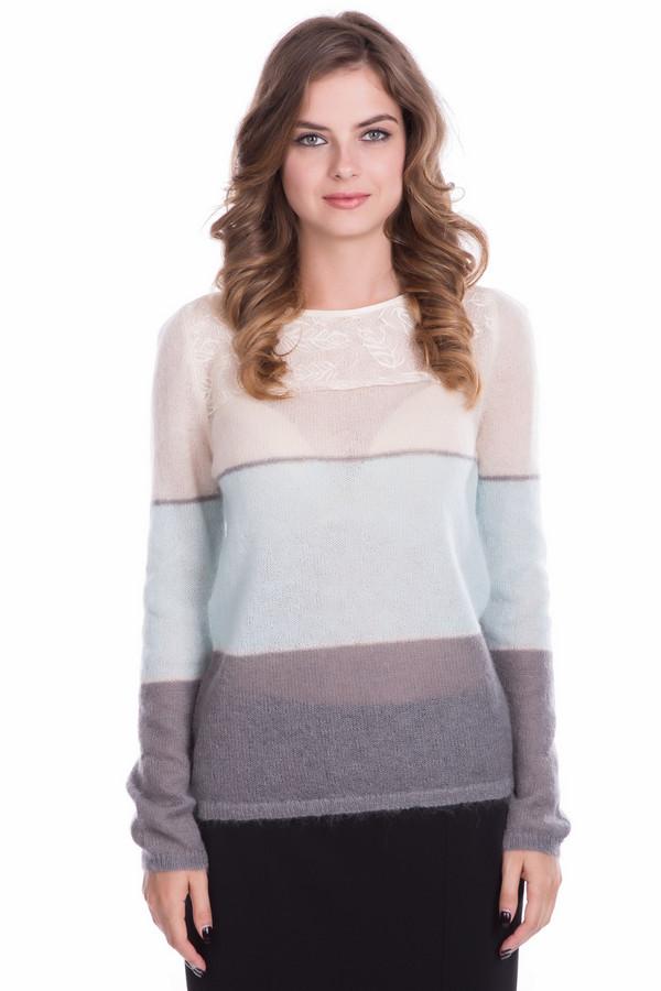 Пуловер Just ValeriПуловеры<br>Пуловер Just Valeri женский розово-серо-голубой. Благодаря нежной вязке пуловер кажется воздушным и невесомым. Кокетка с изящным красивым рисунком лишь ещё больше подчёркивает своеобразие и неординарность модели. В этом пуловере вам всегда будет удобно, комфортно и тепло в холодное время года. Состав: мохер, шерсть, нейлон.<br><br>Размер RU: 46<br>Пол: Женский<br>Возраст: Взрослый<br>Материал: шерсть 20%, нейлон 30%, мохер 50%<br>Цвет: Разноцветный