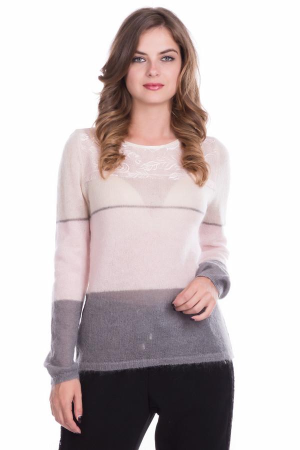 Пуловер Just ValeriПуловеры<br>Пуловер Just Valeri женский в светлых оттенках. Благодаря нежной вязке пуловер кажется воздушным и невесомым. Кокетка с изящным красивым рисунком лишь ещё больше подчёркивает своеобразие и неординарность модели. В этом пуловере вам всегда будет удобно, комфортно и тепло в холодное время года. Состав: мохер, шерсть, нейлон.<br><br>Размер RU: 46<br>Пол: Женский<br>Возраст: Взрослый<br>Материал: шерсть 20%, нейлон 30%, мохер 50%<br>Цвет: Разноцветный