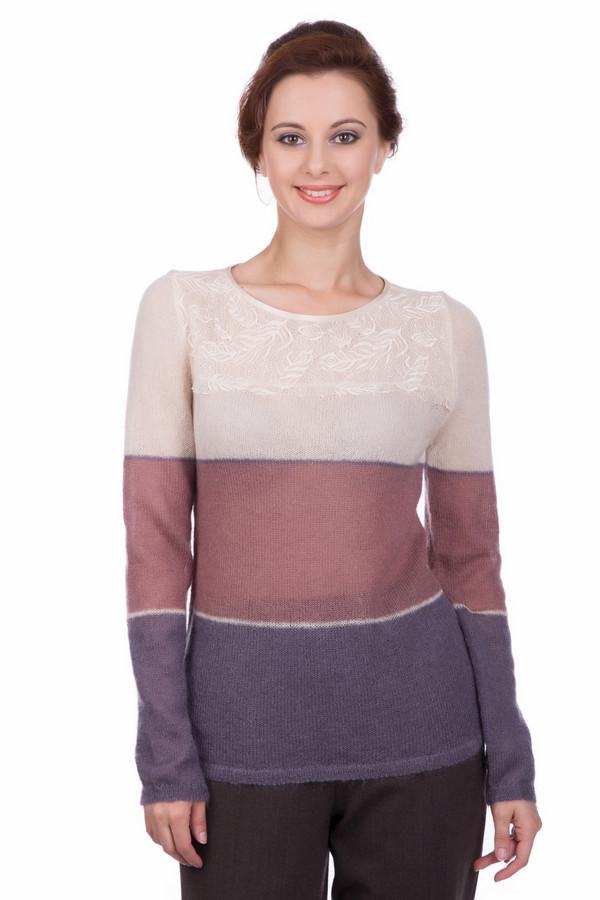 Пуловер Just ValeriПуловеры<br>Пуловер Just Valeri женский в контрастных оттенках. Благодаря нежной вязке пуловер кажется воздушным и невесомым. Кокетка с изящным красивым рисунком лишь ещё больше подчёркивает своеобразие и неординарность модели. В этом пуловере вам всегда будет удобно, комфортно и тепло в холодное время года. Состав: мохер, шерсть, нейлон.<br><br>Размер RU: 46<br>Пол: Женский<br>Возраст: Взрослый<br>Материал: шерсть 20%, нейлон 30%, мохер 50%<br>Цвет: Разноцветный