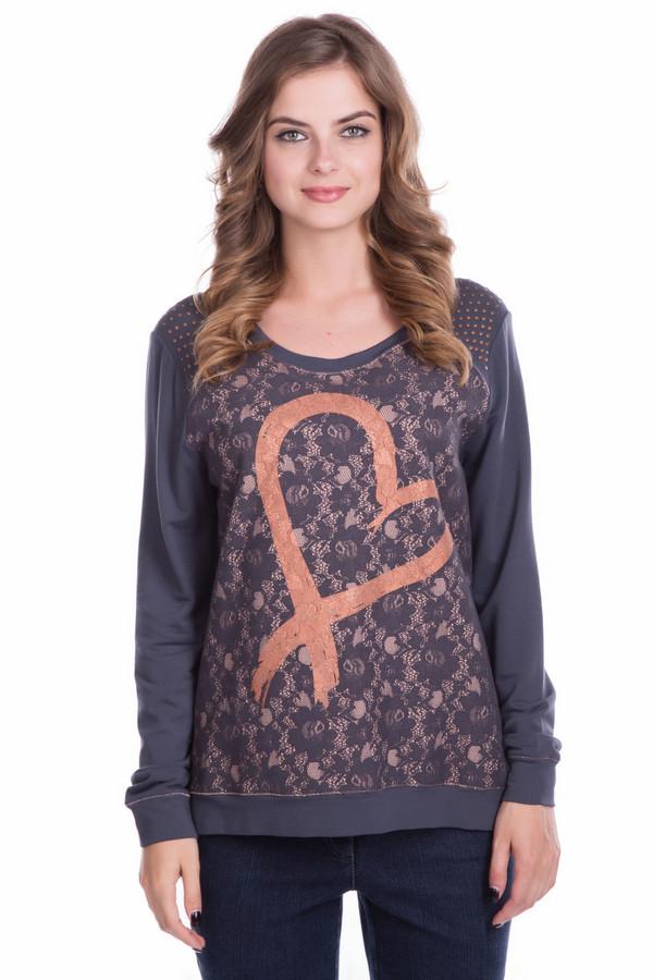 Пуловер TuzziПуловеры<br><br><br>Размер RU: 44<br>Пол: Женский<br>Возраст: Взрослый<br>Материал: эластан 8%, вискоза 92%<br>Цвет: Оранжевый