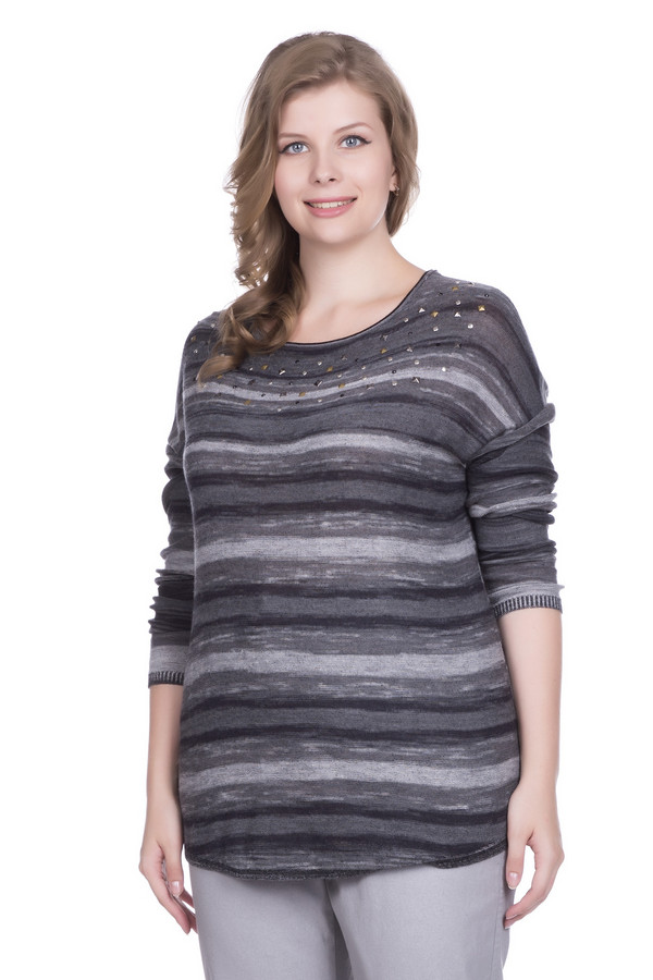 Пуловер Betty BarclayПуловеры<br><br><br>Размер RU: 50<br>Пол: Женский<br>Возраст: Взрослый<br>Материал: хлопок 30%, вискоза 53%, лен 17%<br>Цвет: Серый