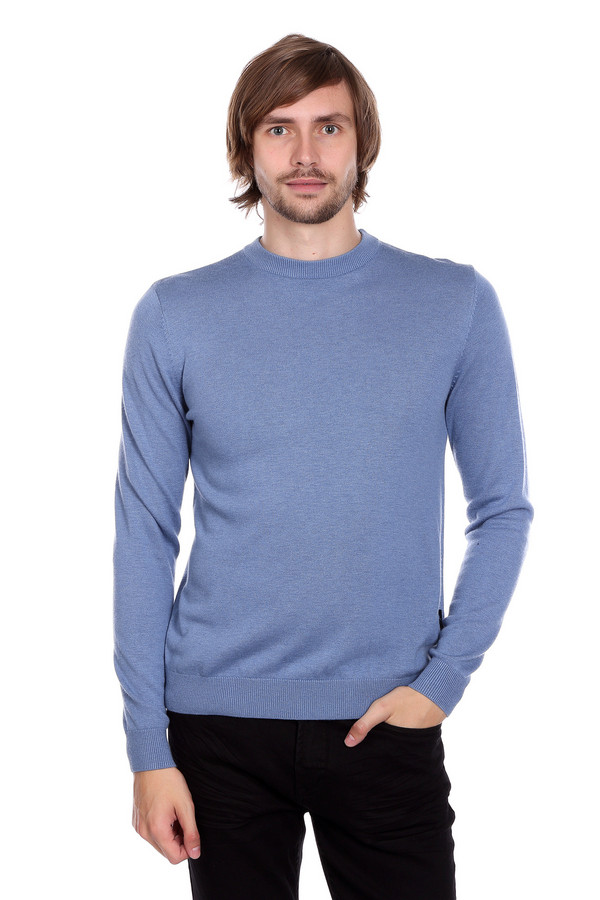 Джемпер PezzoДжемперы<br>Джемпер Pezzo голубого оттенка. Отличное решение для делового мужчины, обладающего чувством вкуса. Округлый вырез горловины и лаконичный силуэт – то, что ценят мужчины в актуальной моде. Состав: шерсть, вискоза, полиамид. Демисезонное изделие, которое будет уместно в самых разных ситуациях – с брюками вы можете экспериментировать: джинсы или классические брюки – выбор лишь за вами.<br><br>Размер RU: 48<br>Пол: Мужской<br>Возраст: Взрослый<br>Материал: вискоза 55%, полиамид 22%, шерсть 23%<br>Цвет: Голубой