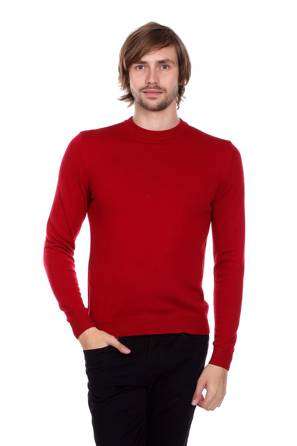 Джемпер PezzoДжемперы<br>Джемпер Pezzo красного оттенка. Отличное решение для делового мужчины, обладающего чувством вкуса. Округлый вырез горловины и лаконичный силуэт – то, что ценят мужчины в актуальной моде. Состав: шерсть, вискоза, полиамид. Демисезонное изделие, которое будет уместно в самых разных ситуациях – с брюками вы можете экспериментировать: джинсы или классические брюки – выбор лишь за вами.<br><br>Размер RU: 46<br>Пол: Мужской<br>Возраст: Взрослый<br>Материал: вискоза 55%, полиамид 22%, шерсть 23%<br>Цвет: Красный